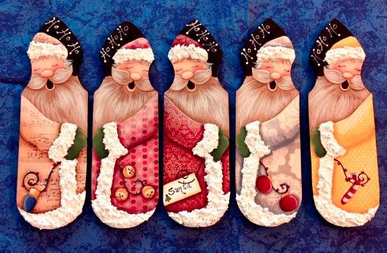 Santa Picket Ornaments - E-Packet - Christy Hartman