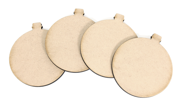 Ornament Coasters - Set of 4