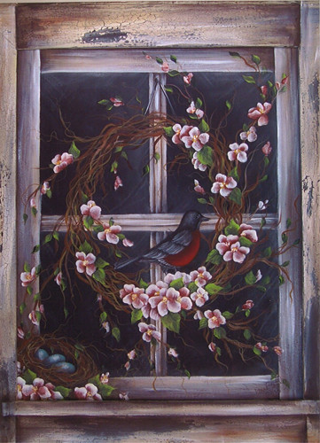 Spring Robin's Window - E-Packet - Donna Scully