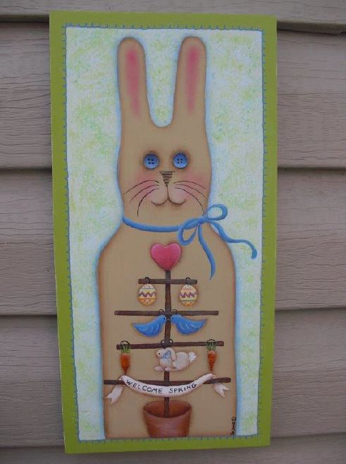 Welcome Spring Bunny - E-Packet - Pat Jarrett