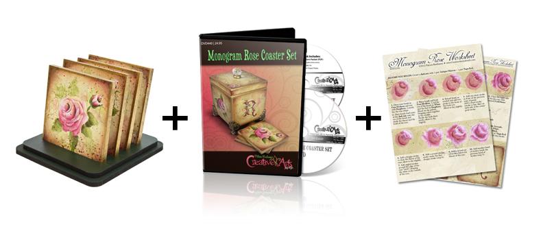 Monogram Rose + DVD + Worksheet Set