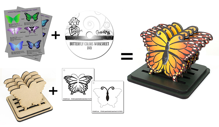 Monarch Butterfly Deluxe Set