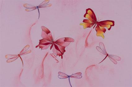 Swirls of Pink - E-Packet - Debra Welty