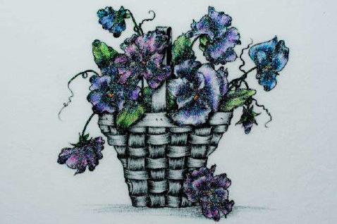 Pansy Basket - E-Packet - Debra Welty