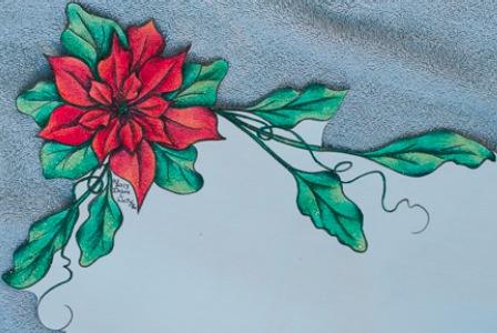Poinsettia Table Runner - E-Packet - Debra Welty