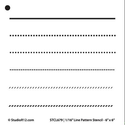 "1/16"" Line Pattern Stencil - 6"" x 6"" - STCL679_1 - by StudioR12"