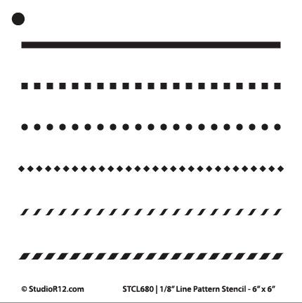 "1/8"" Line Pattern Stencil - 6"" x 6"" - STCL680_1 - by StudioR12"