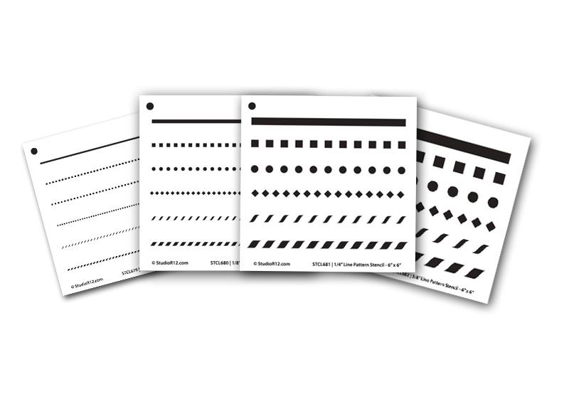 """6"""" x 6"""" Banding Stencil Set"""
