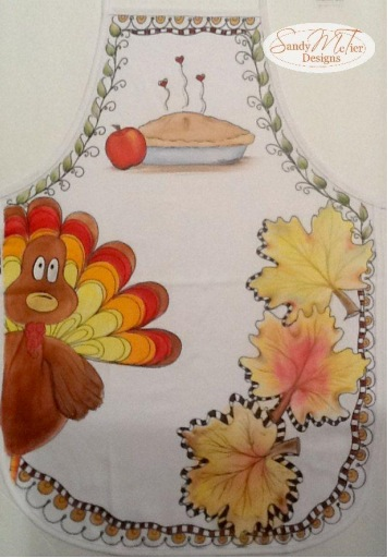 Tom Turkey Fall Apron - E-Packet - Sandy McTier