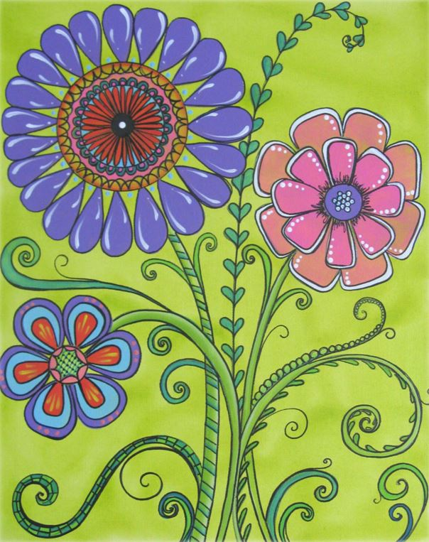 Pop Art Flowers - E-Packet - Sandy McTier