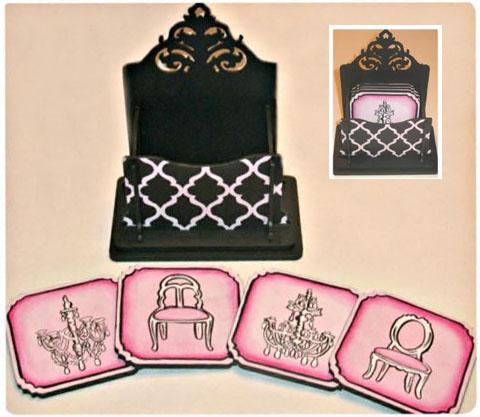 Illustrated Elegance Coaster Set - E-Packet  - Sandy McTier