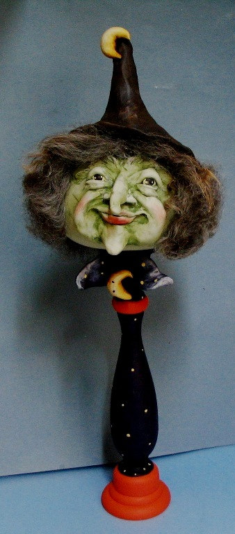 Gourdous Witch on Candlestick - E-Packet - Dottie Kuhl