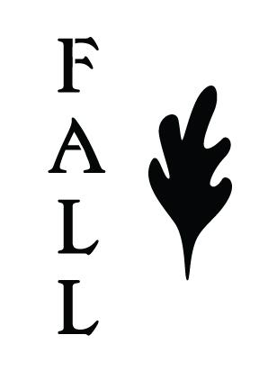"""Fall Word & Leaf Stencil - Word Stencil - 4"""" x 6"""" - Leafy"""