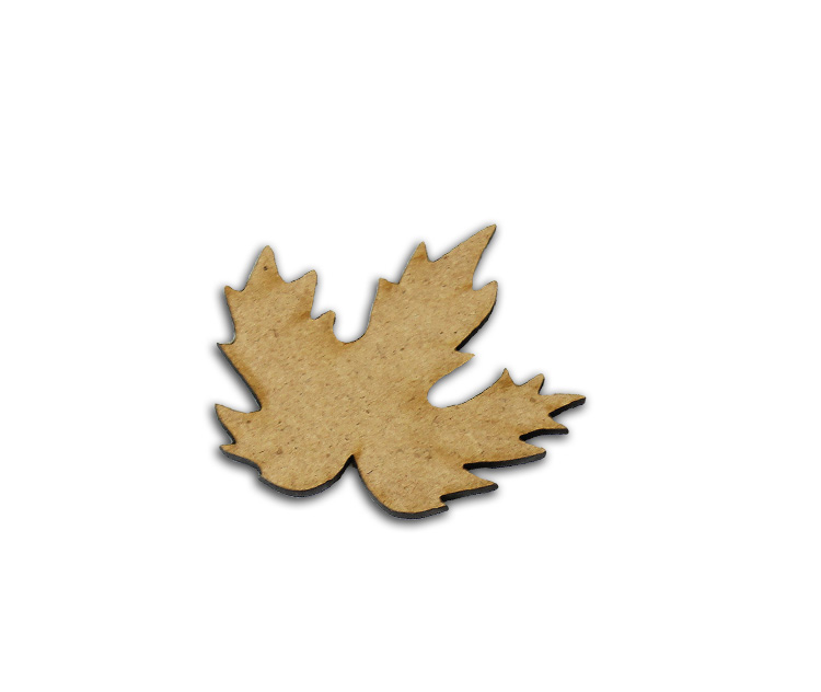 "Fall Leaf Wood Embellishment - 1.75"" x 1.75"""