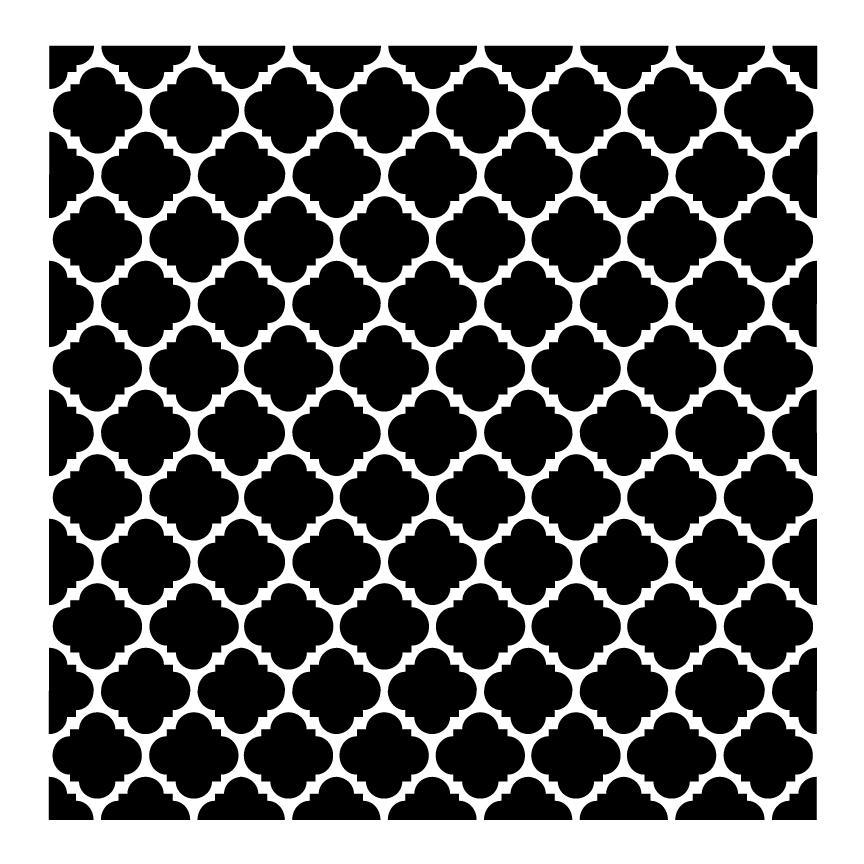 "Colonial Mosaic Pattern Stencil - 8"" x 8"""