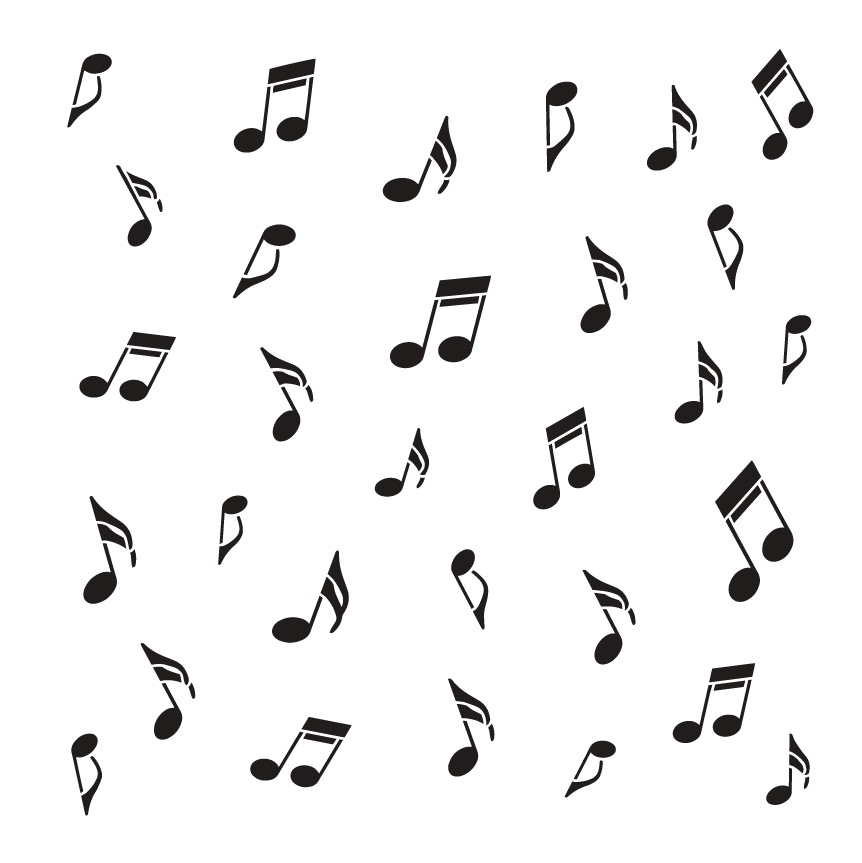 "Music Notes - Pattern Stencil - 12"" x 12"""