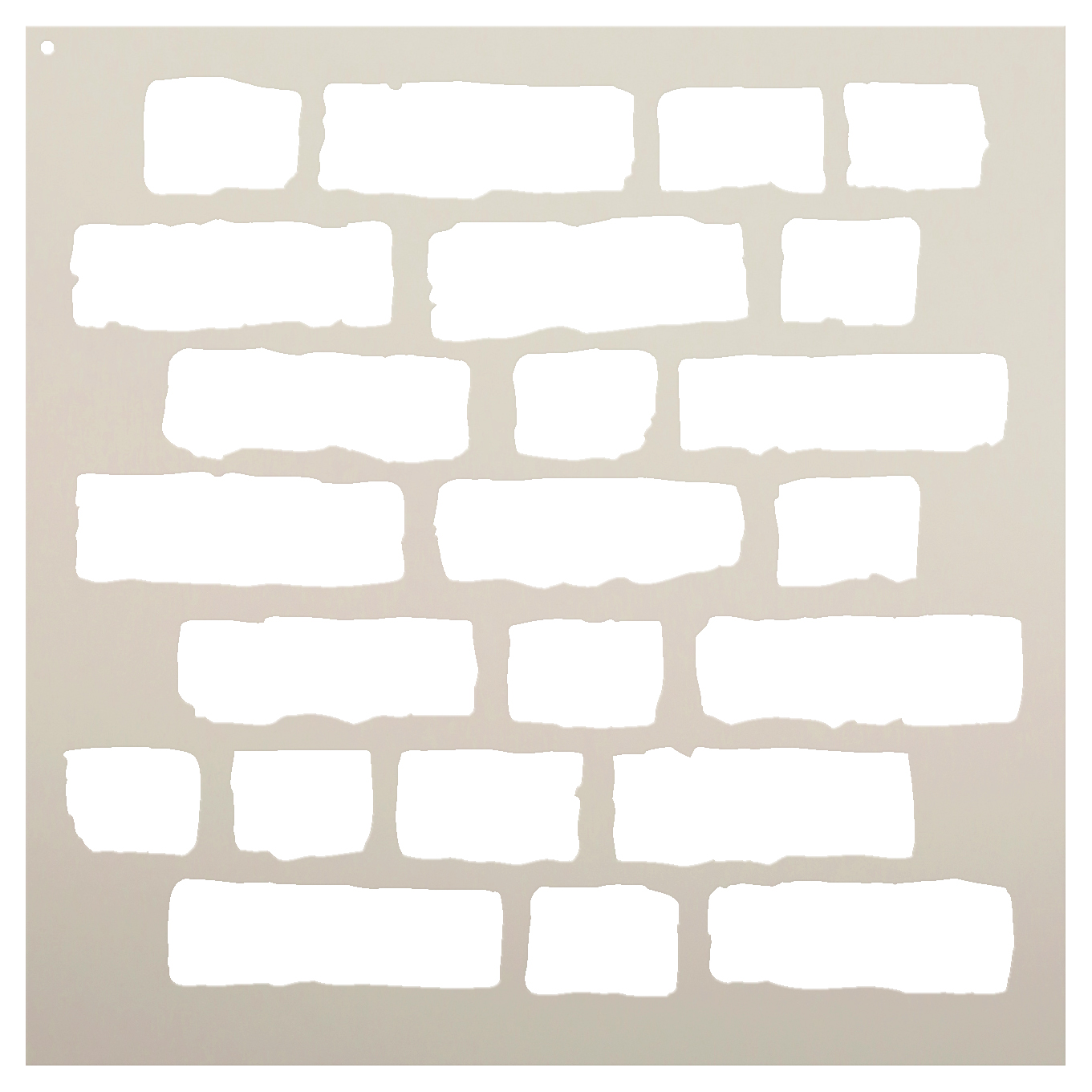 "Rough Bricks - Pattern Stencil - 9"" x 9"""