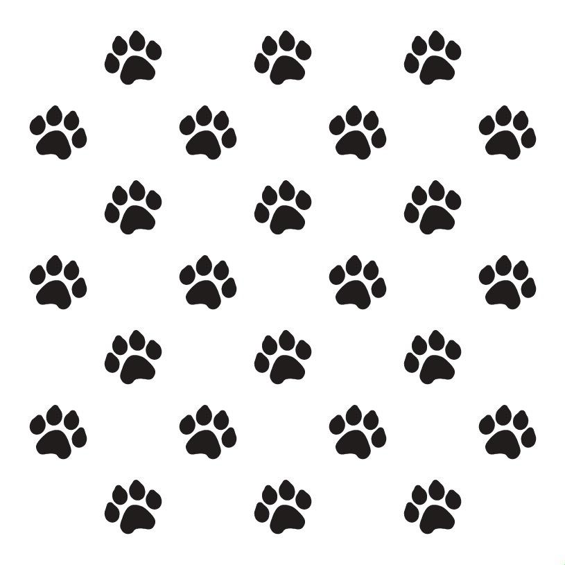 """Paw Prints - Pattern Stencil - 18"""" x 18"""""""