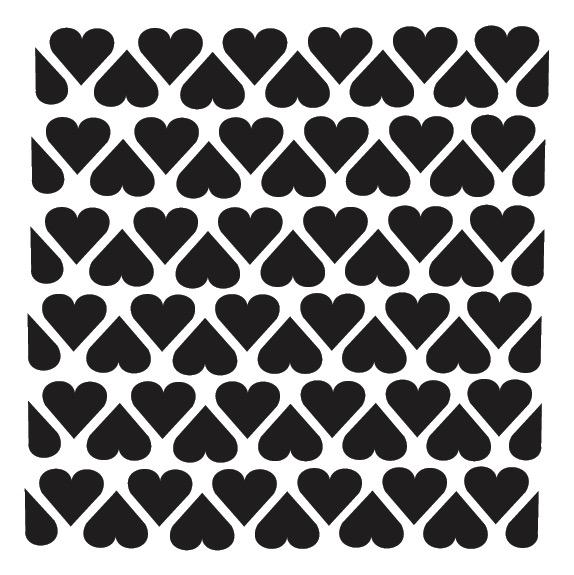 """Heart Tile - Pattern Stencil - 8"""" x 8"""""""