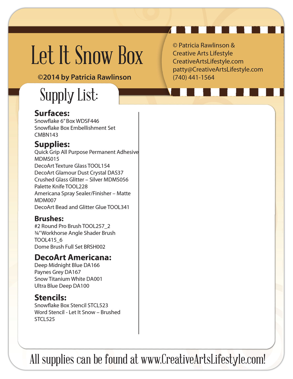 Let it Snow Box Pattern Packet - Patricia Rawlinson