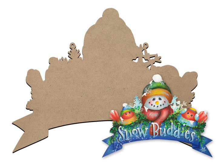 Snow Buddies Banner Sign Surface