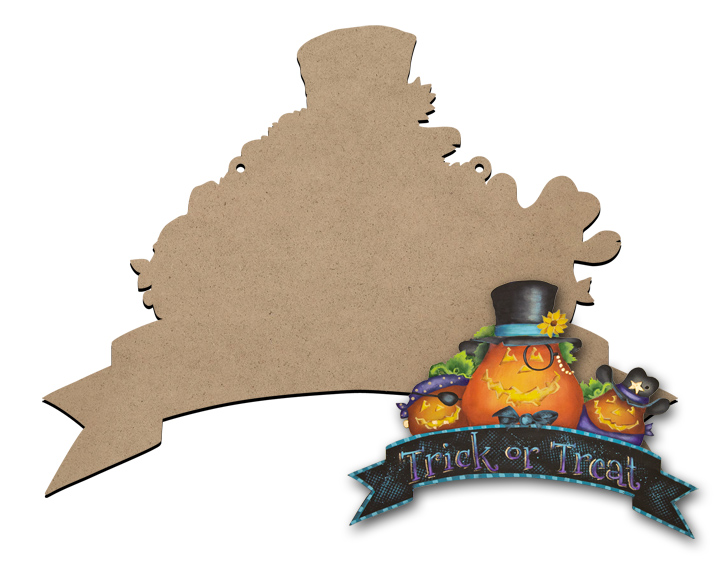 Halloween Banner Sign Surface