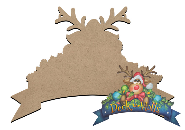 Deck the Halls Banner Sign Surface