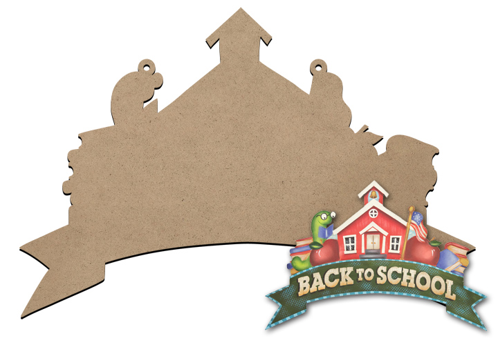 Back to School Banner Sign Surface