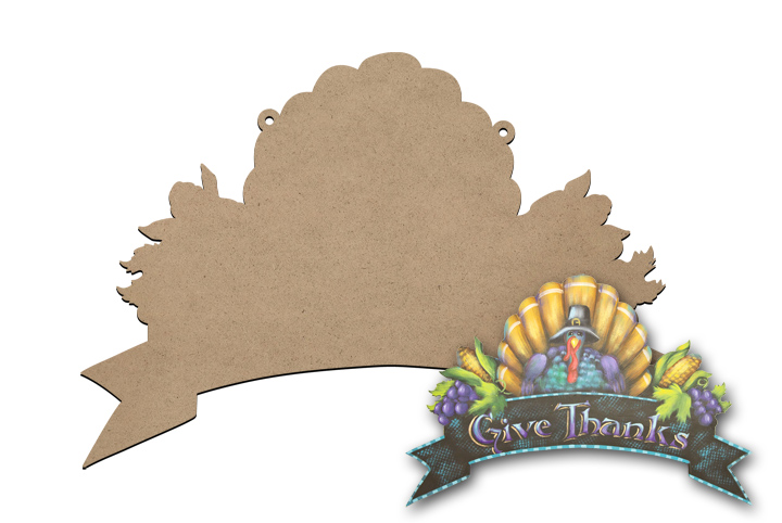 Thanksgiving Banner Sign Surface
