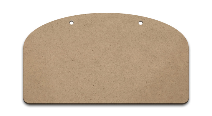 "Simple Arched Sign Surface - Medium - 12"" x 6 1/2"""