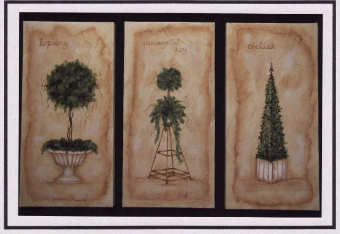 Topiaries on Canvas - E-Packet - Mary Jo Gross