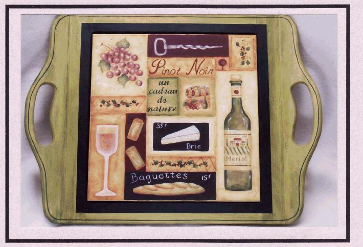 Serving Tray - Wine - E-Packet - Mary Jo Gross