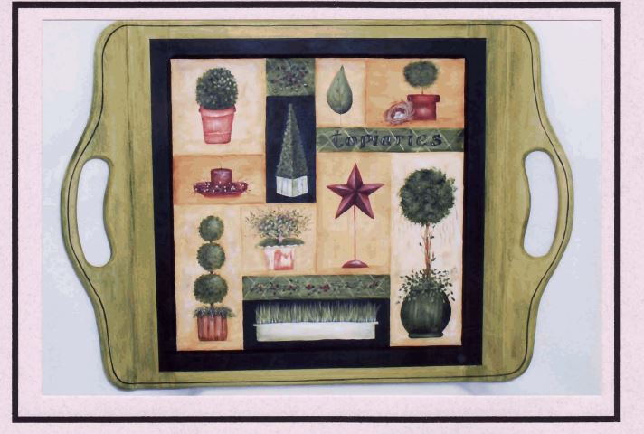 Serving Tray - Topiaries - E-Packet - Mary Jo Gross