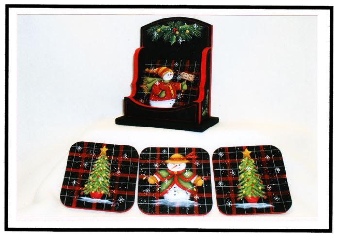 Snowy Christmas Coasters - E-Packet - Mary Jo Gross