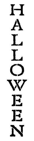 "Halloween - Word Stencil - Tombstone Vertical - 3"" x 12"""