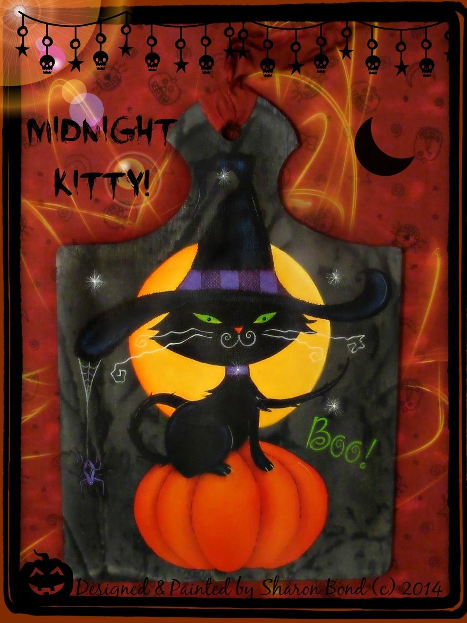 Midnight Kitty - E-Packet - Sharon Bond