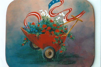 Americana Garden Cart - E-Packet - Patty Stouffer