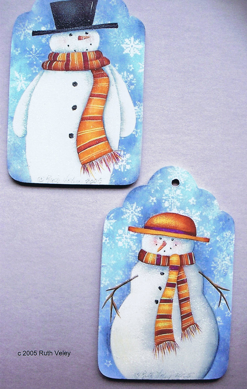 Mr. & Ms. Snow Tags - E-Packet - Ruth Veley