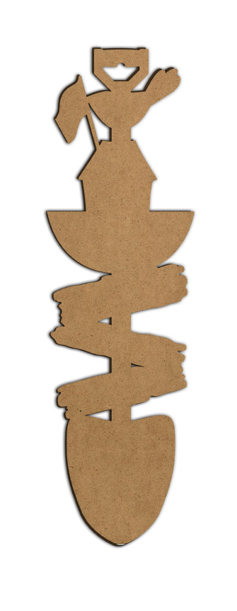 "Signs of Summer Shovel Wood Surface - 8 1/4"" x 28"""