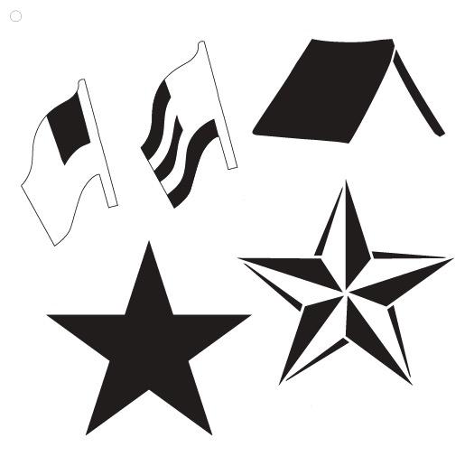 "Signs of Summer Americana Art Stencil - 11"" x 11"""