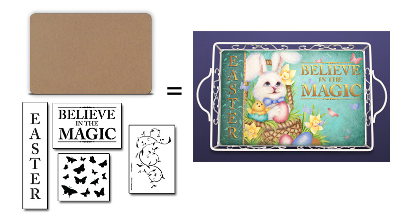 Easter Magic Stencil + Surface Set