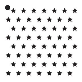 """1/4"""" Stars Mini Pattern Stencil - 4"""" x 4"""""""