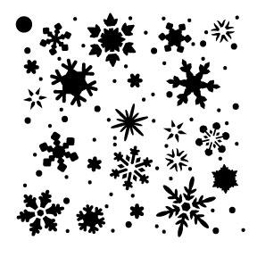 """Snowflakes Mini Pattern Stencil - 4"""" x 4"""""""