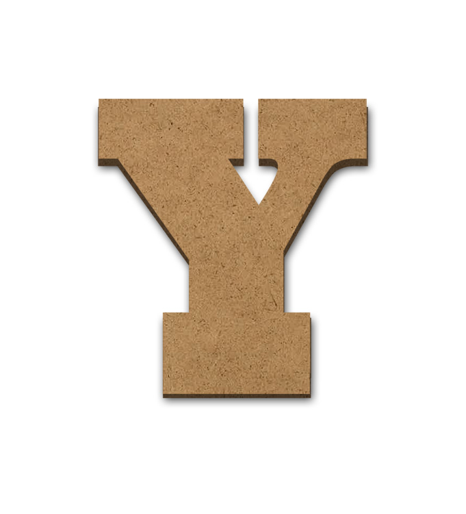 """Standing Wood Letter Surface - Y - 3 3/8"""" x 3 5/8"""""""
