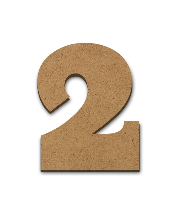 """Standing Wood Letter Surface - 2 - 3"""" x 3 5/8"""""""