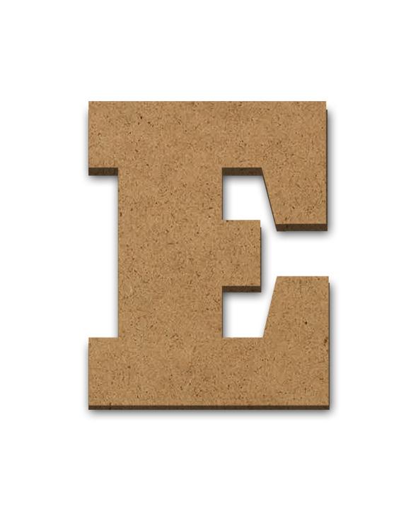 "Wood Letter Surface - E - 2 3/4"" x 3 3/8"""