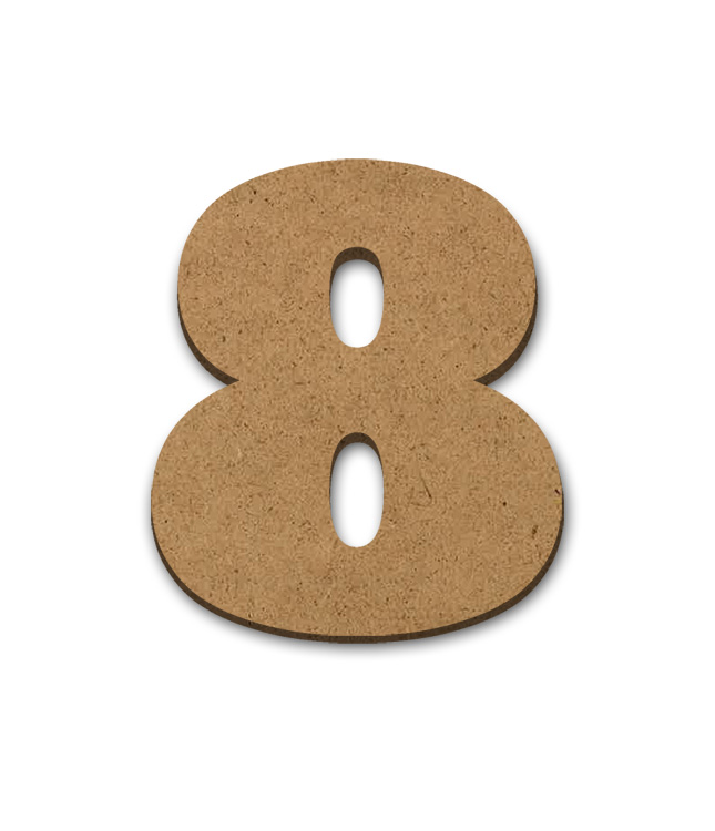 "Wood Letter Surface - 8 - 3"" x 3 5/8"""