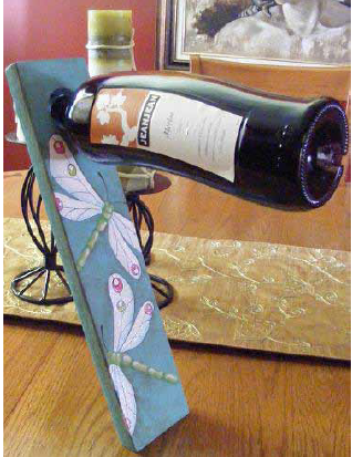 Dragonfly Wine Holder - E-Packet - Tracy Moreau