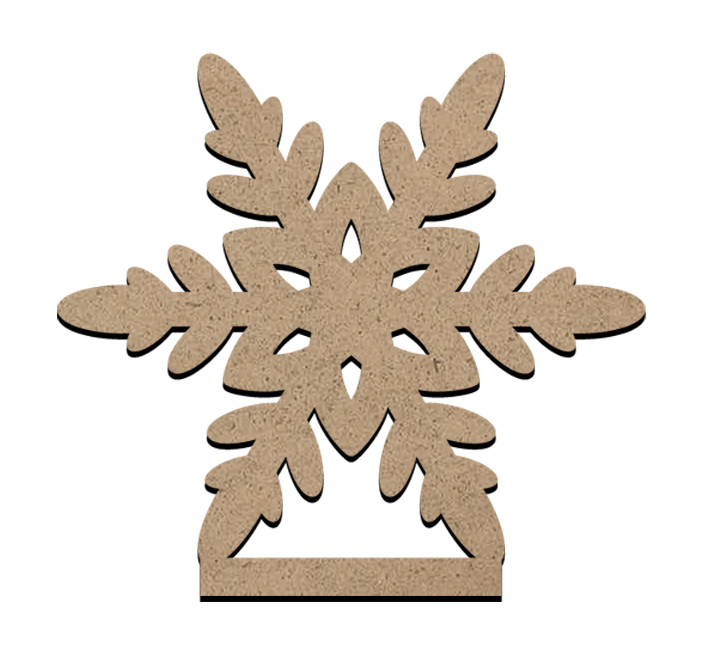 """Standing Word Bling Surface - Snowflake - Mini - 3"""" x 2 3/4"""""""