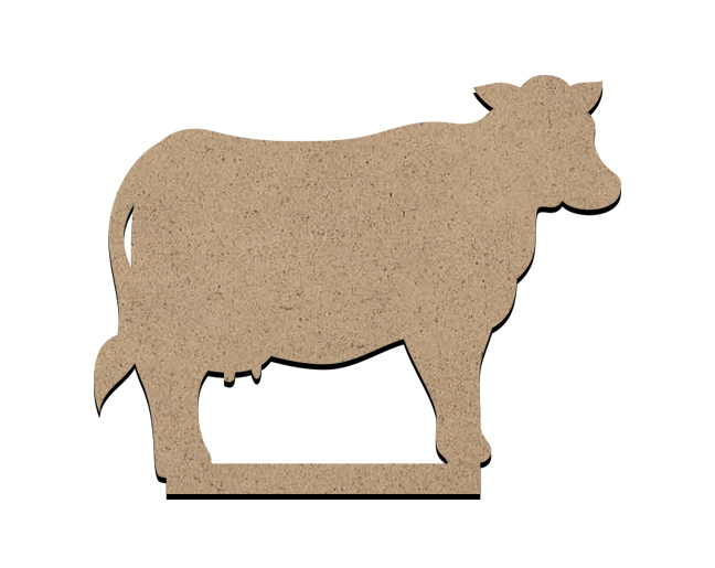 Standing Word Bling Surface - Cow -